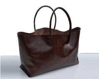 XXL Leather Shopper and more XXL shopper Ledershopper large leather case for wholesale brown handmade
