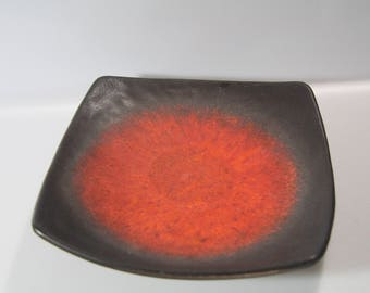 Awesome bowl platter plate by Carstens, Fat Lava, West German Pottery, WGP, 304-28