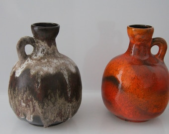 Terrific Ruscha 333 in two different glazes, West German Pottery - WGP