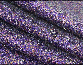 Glitter fabric, purple rain. Purple chunky glitter fabric. Bow making fabric. Purple glitter fabric with a mix.