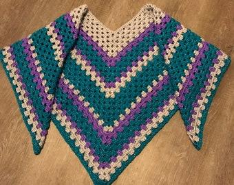 Sparkly Serape Poncho Pattern / Crochet Poncho Pattern / Crochet Serape Pattern / Crochet Pullover Pattern