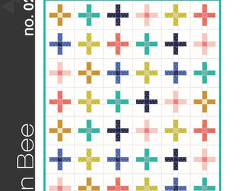 The Plus Quilt Pattern by Green Bee Sewing Patterns Paper Pattern