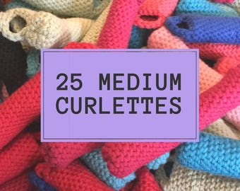 Curlettes: Medium set. PACK OF 25. The comfy way to get your vintage hair style overnight!