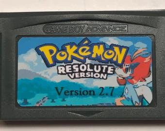 Pokemon Resolute 2.7 version fan made hack for Gameboy Advance GBA