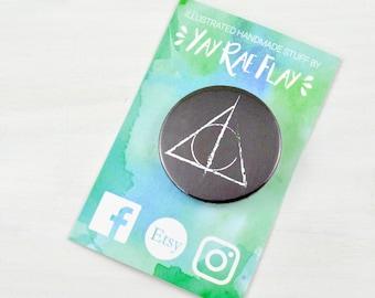 Deathy Hallows | Harry Potter | Fun Button Badge | Cute Pin Badge.