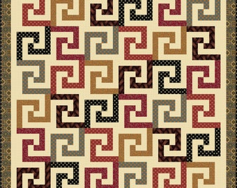 High Roller quilt pattern: Rotary-cut/machine-pieced quilt in 5 sizes(throw, twin, full, queen & king)