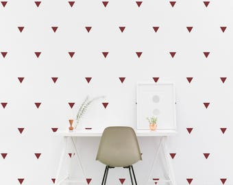 Triangle wall Decal Kids room Triangle Pattern Wall Sticker, Kids Bedroom, Living room Wallpaper Vinyl Wall Decals Wall Stickers Home Decor