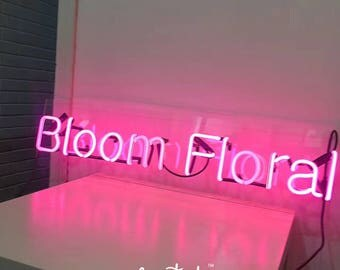Custom Your Own Glass Neon Your Name in Neon