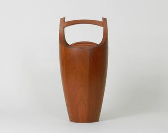 "Solid teak ""Congo"" ice bucket designed by Jens Quistgaard for Dansk.  Denmark, 1960s. Danish mid century modern"