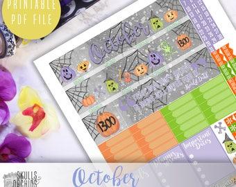 50% OFF! ERIN CONDREN October Monthly View Kit – Printable Planner Stickers