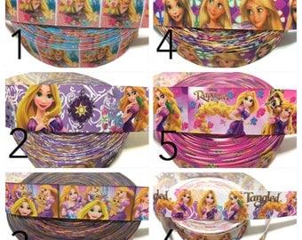 Princess Rapunzel Ribbon, Tangled Ribbon, Tangled Grosgrain Ribbon, Rapunzel Grosgrain Ribbon for Bows, Rapunzel Party