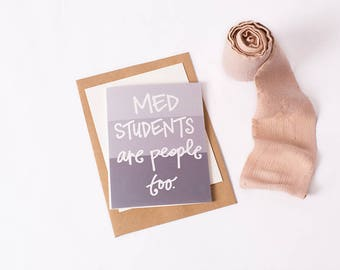 Greeting Card: Med Student People