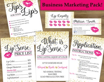 Lipsense Business Cards; Lipsense Tips & Tricks; Lip Sense Business Pack; Senegence Business Cards; Lipsense Application Cards