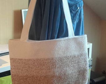 is made crochet handbag