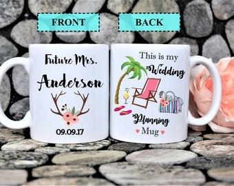 wedding planning mug,future mrs mug,gift for future mrs,engagement gift idea,engagement mug,this is my wedding planning mug,bride to be mug