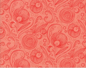 Pink Floral Swirls from the Blushing Peonies collection by Robin Pickens for Moda Fabrics, Choose the Cut, Peony