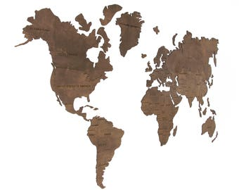 World Map Poster Etsy - World map no colour