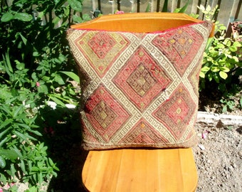 16x18 Handwoven vintage kilim pillow cover, floor cushion cover, vintage kilim pillow cover,  bohemian kelim pillow cover