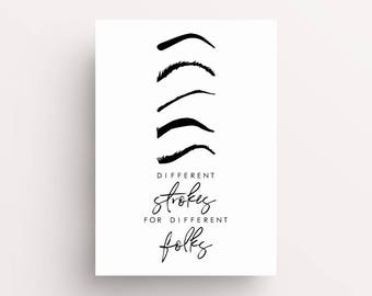 Eyebrow print,eyebrow prints, eyelash print, eye brow print, office prints, blogger, typography print, lashes print, makeup prints