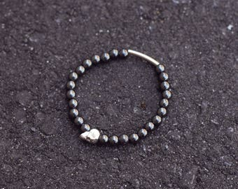 Metal skull Bead Bracelet