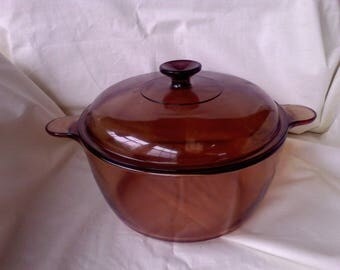 Vision Dutch Oven Stock pot 4.5 L Corning,cookware , glass cookware,Pryex Visionware, sauce pans, made in  USA