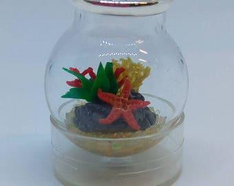 Microlandscape Microaquarium Glass Sphere pendant Miniatures
