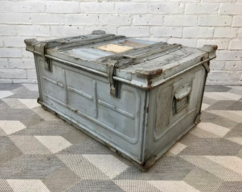 Vintage Industrial Trunk Box Metal #630