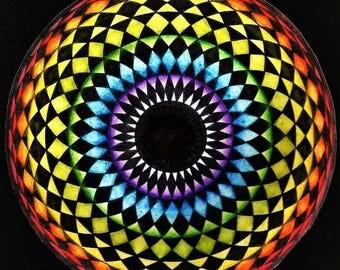 EYE of the RAINBOW Sacred Geometry Art Framed Print/ Greeting Card/ Magnet