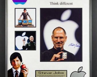 Steve Jobs - Signed Custom Framed Photo Collage