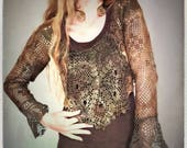 Top – Lace green/ brown