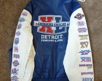Leather Super Bowl 40 Jacket - Detroit