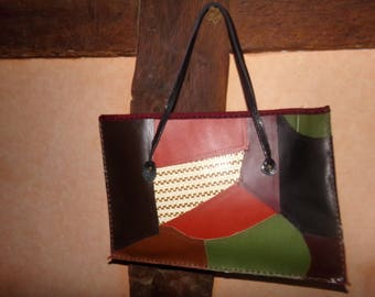 all of this tote bag patchwork leather
