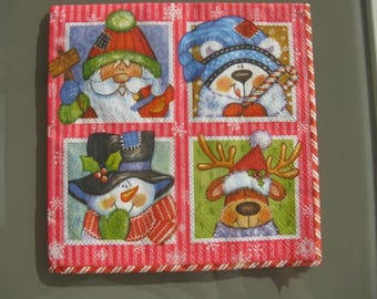 novelty Christmas towel red and white