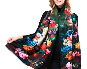Bohemian Scarf Women's Floral In Vogue Shawl