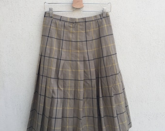 Vintage Burberrys Plaid Skirt