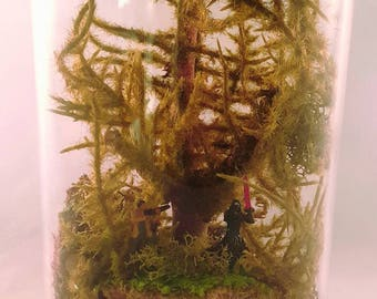 Star Wars Kylo Ren Vs. Finn terrarium in a jar