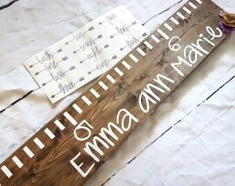 Growth chart- wood sign- nursery decor- kids decor- family- rustic- home decor-