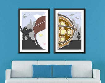 Bioshock Minimalist: Big Daddy & Little Sister Set
