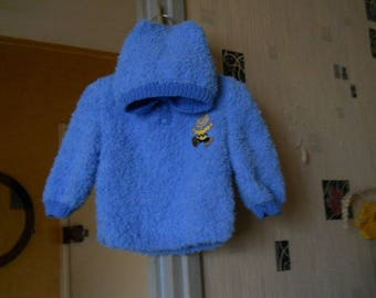 blue baby hooded sweater