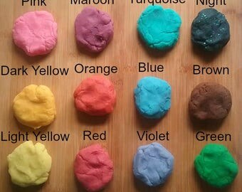 Playdough - Coconut Oil Based Play-doh - Playdough Set Of 3 Containers - Preschool Activity - Playdough Pack - Party Favors