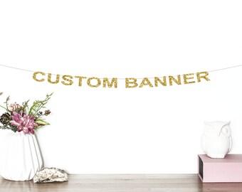 Custom Glitter Banner   Glitter Word Garland   Wedding   Bachelorette Party   Baby Shower   Engagement Party   Custom Banner   Bridal Shower
