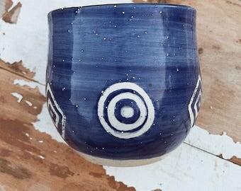 Blue Ceramic Vessal
