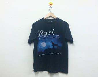 Rare!!! Vintage Band RUSH Test For Echo Tour 1996-1997 Tshirt Rock Band