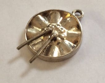 Sterling silver steel drum charm vintage # S 780