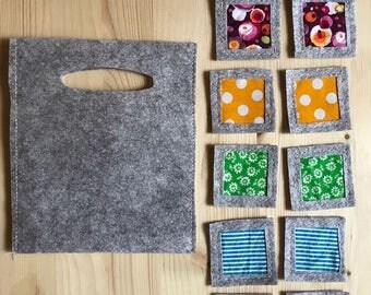 Textile material on Montessori inspired Appaimenti