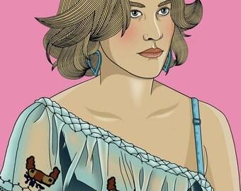 Alabama Worley True Romance Illustration Matte Coated Illustrated Print
