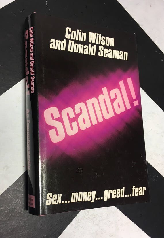 Scandal! An Encyclopedia by Colin Wilson and Donald Seaman vintage hollywood encyclopedia (Hardcover, 1986)