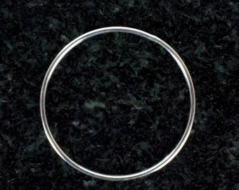 FIVE - 28mm Sterling Silver 18ga CLOSED Jump Rings, Made in India