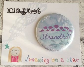 Surf gift, Sea Magnet, Irish Beach, Beach Magnet, Beach House Decor, Surfing gift, Watercolor gift, Round Magnet, 58mm magnet, Ireland