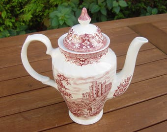 large 2 pint british anchor pottery,old country castles teapot